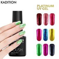 Est platinum prego gel polonês super brilhando glitter laca 8ml cor de folha estrela lantejoulas UV LED Varnish1