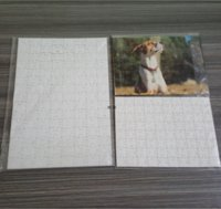 Sublimation Puzzle A4 Size DIY Sublimation Blanks Puzzles White Puzzle Jigsaw 80pcs Heat Printing Transfer Handmade Gift BWF7524