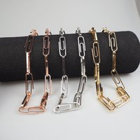 Paperclip Oval Link Chain Paperclip Cable Chain Necklace Bracelet Hip Hop Jewelry Women Men