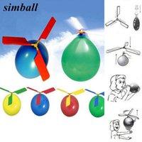 50 pcs Air drôle Balloon Ortably Hélicoptère en plein air Volant pour les enfants fête d'anniversaire cadeau cadeau en gros