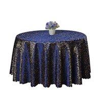 럭셔리 자카드 라운드 식탁보 엘 파티 웨딩 장식 테이블 천으로 커피 차 커버 홈 폴리 에스터 코트