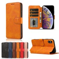 Retro Magnetic Flip Leather Cases for iPhone 13 12 Mini 11 Pro Xs Max XR X 8 7 6 6s Plus 5S SE Card Holder Wallet Phone Cover