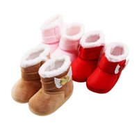 First Walkers Warm Born Toddler Boots With Loves Mid-tube Winter Baby Girls Boys Shoes Soft Sole Fur Snow Booties