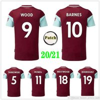 2020 2021 Barnes Futbol Formaları Tarkowski Rodriguez Westwood McNeil Ahşap Özel 20 21 Ev Kırmızı Yetişkin Çocuk Kiti Futbol Gömlek