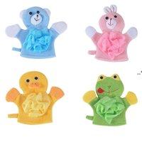 4Colors Animals Style Showers Sponge Towels Cute Children Baby Shower Bath Towel Bathing Wash Cloth Body Scrub Glove Bathings NHE8367