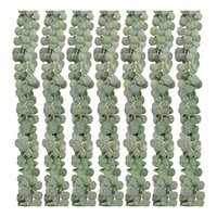 Decorative Flowers & Wreaths 7 Pack Artificial Eucalyptus Garland Faux Greenery Leaves Vines For Wedding Home Party Garden Decoration