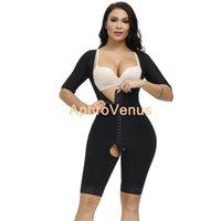 النساء ارتداءها آخر جراحة ضغط ثوب الملابس السيطرة الجسم المشكل مع الأكمام فاجا ملابس داخلية