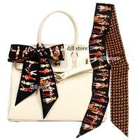 Mix Design Magic Hand Bag Scarves Women Small Silk Scarf Luxury Retro Belt Neckerchief Printing Handle Bags Ribbon Female Vintage Girls Scarfs & Wraps