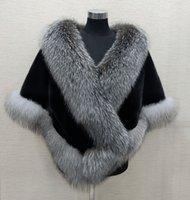 Winter Bridal Faux Fur Wraps Warm shawls Outerwear Shrug Black Gary Burgundy Blue Silver For Bride Bridesmaid Jacket