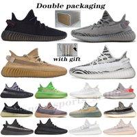 Kanye West Breed Earth Oreo Homens Mulheres Correndo Sapatos Preto Estático Reflexivo Creme Branco Beluga 2.0 Yechheil Cinder Zebra V2 Sapatilhas Esportivas