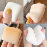스폰지 애플리케이터 코튼 메이크업 일본 공기 감각 캔디 토스트 쿠션 파우더 퍼프 작은 베개 소프트 스폰지 드라이 습식 이중 목적 뷰티 제품