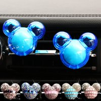Fragrance Crystal Car Perfume Diffuser Air Freshner Essential Oil Auto Vent Clip Outlet Conditioning Home Cleaning