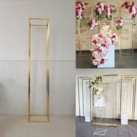 200 CM Iron Column Wedding Background Screen Flower Display Decoration Birthday Party Stage Backdrops Balloons Rattan Square Frame Rack metal Plinth Pillar Stand