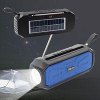Sy-968 Solar Charge Altofalante Sem Fio Portátil BT Speakers com Flashlight FM Radio Antena TF Áudio Viagem Plaza Light Loudspeaker 10w Subwoofer