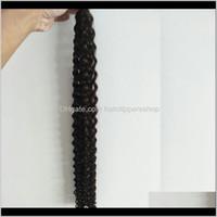 Qualidade superior Brasileira 100g tranças em massa onda sem trama molhado e ondulado encaracolado remy cabelo g9oll tece kodtw