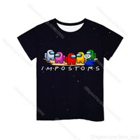 2021 New 3D Game Among Us Printed T-shirt Short Sleeve Kids Boys Girls Casual Tops Tees Toddler Children Colorful Camiseta