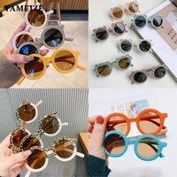 Toptan Çocuk Güneş Gözlüğü Kız Erkek Retro Yuvarlak Gözlük Çocuk Bebek Açık Havada Gözlük Çocuk Gözlük UV400