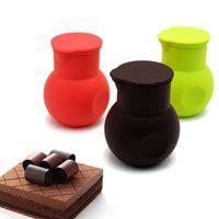 Bakeware Tools Silicone Cioccolato al cioccolato Melting Pot Butter Heat Latte Versatore Brocca Stampo Salsa Boccolo Versare Bottiglie di stoccaggio antiaderente Vasetti