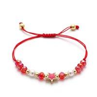 Charm Bracelets 2021 Fashion Star Bracelet Women Colorful Braided Macrame Mix Bead For Jewelry Gift