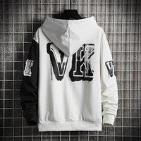 Men's Hoodies & Sweatshirts Hop Street Hip Tops Print Men Mens Hoodie Patchwork Hooded High Fashion Letter Streetwear Lett