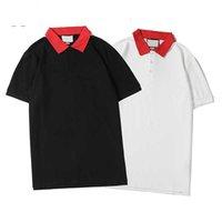 Fábrica de alta calidad de la marca de la marca de la marca de la marca Polo 20s de manga corta de la moda del oso de la moda del bordado de los hombres y las mujeres camiseta Casual Ropa al aire libre M-XXL G1