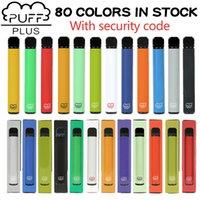 Puf Bar Artı 80 Renkler Sigara Tek Kullanımlık Vapes 800 Puffs Cihazı 550 MAH Pil 3.2 ml Vape Kalem Sopa Taşınabilir Buhar Çift Max Bang XXL