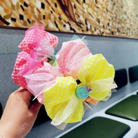 Girls Hair Accessories Baby Headbands Sticks Ribbons Childrens Lace Bow Fruit Head Bands Accessory Princess B6258