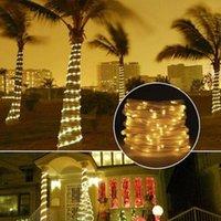 Солнечные лампы 100 Светодиодная Света Строка Открытый Водонепроницаемый Для Садового Украшения Лампа Лампы Веревка Скача Fairy Фонари Рождественская свадьба
