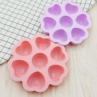 Barra de silicona en forma de corazón Productos de suplemento alimenticio con bandejas de tapa Molde de cubo Almacenamiento de bebé Bandeja de hielo