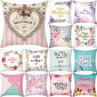 Muttertag Kissenbezug Weiche Gewebe Flannelette Quadrat 18x18 Zoll Floral Gedruckt Kissenbezug für Home Sofa Schlafzimmer Auto EWA4360