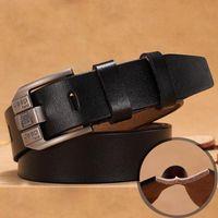 Belts Belt Men Genuine Leather For Famous Designer Pin Buckle Waist Strap Jeans Male High Quality 2021