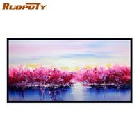 Paintings RUOPOTY 60x120cm Red Trees DIY Painting By Numbers Large Size Abstract Modern Wall Art Picture Calligraphy For Home