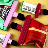 Heavy duty Bulldog Bag Clips Plastic Hinge Clip Clamps Grip Storage Air Sealing Binder Paper Tags Files Holding Stationery Kitchen Office Tool Width 15.3 7.8cm
