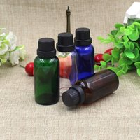 Storage Bottles & Jars 30pcs lot 30ml Empty Large Refillable Amber Glass Drop Essential Oil Perfume Container For Travel Portab