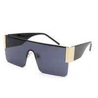 최고 품질의 선글라스 남성 럭셔리 디자이너 태양 안경 여성 반 프레임 UV400 렌즈 진행성 컬러 선글라스 레트로 스타일 안경 6123 브랜드 안경