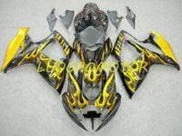 ABS InSecion Bodywork Libre Kits de carenado personalizado Kits Cowling Failing Kit para Suzuki Llama Amarillo Negro GSXR 600 750 GSXR600 GSXR750 2006-2007 06-07 Fábrica de motocicletas