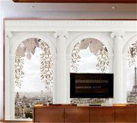 거실 침실에 대 한 도매 - 사용자 정의 어떤 크기 사진 벽지 홈 장식 벽 벽화 벽지 로마 열 papel de parede 3D 690 v2