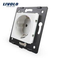 Parti FAI DA TE LIVOLO, materiali bianchi in plastica, standard, tasto funzione per presa a muro, VL-C7-C1EU-11