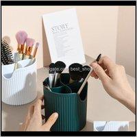 4 Lattices Makeup Brush Box Nail Polish Make Up Tools Pen Rack Table Organizer F9Yxr Boxes Bins Fybc3