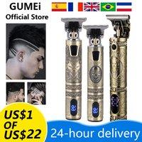 Задняя резки цифровой парикмахерский электрический клипер для волос профессиональный парикмахерский мужской триммер волос перезаряжаемый 0 мм T-лезвие машины