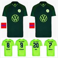 21 22 VFL Wolfsburg 축구 유니폼 Weghorst 2021 2022 Steffen Brekalo 축구 셔츠 Arnold Xaver Jersey
