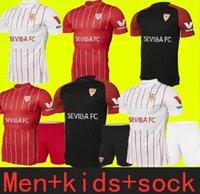 Tailandia Calidad Sevilla 2021 2022 Sevilla 5 Ocampos Soccer Jersey 16 Navas Ever Banega de Jong El Haddadi Torres Rakitic Vazquez Kounde Football Kits