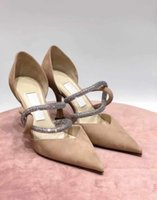 Elegant Bridal Wedding Luis Sandals Shoes Women's Dress Crystal Party Lady High Heels Nude White Summer Gladiator Sandalias With Box,EU35-43