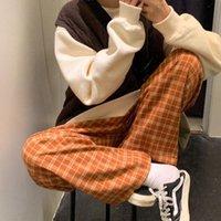 Women's Pants & Capris Retro Port Style Plaid Korean Fashion Loose Wide Leg Trousers Women Casual Chic Harajuku Hip-hop Streetwear