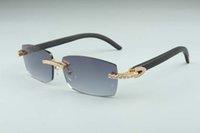 Venda Óculos de sol Moda 2021 Unisex High-end, preto Hot A-3524012-B diamantes de madeira varas de madeira para tamanho: 56-18-135mm natural rnenp