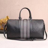 Duffel Bags Kaisiludi Кожаные вышитые мужские и женские сумки тканые сумочки путешествия большая емкость фитнес-тур одного плеча