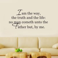 Wallpapers Wall Stickers Quote I Am The Way, Truth, And Life Bible Verse Art Decor Mural Inspirational