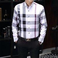 Мужская роскошная рубашка мода вышивка с длинным рукавом классический отворот бизнес M-3XL 10