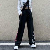 Women's Pants & Capris Harajuku Black Hip Hop Unisex Summer Korean Vintage Japanese Loose Wide-leg Pant Straight Casual Trouser