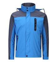 azul rojo encapuchado espesar hombres esquí softshell chaqueta al aire libre abrigos deportistas mujeres ski senderismo a prueba de viento Outwear Outwear Soft Shell impermeable impermeable desgaste